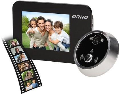 ORNO csengős ajtó kitekintő és felvevős kamera