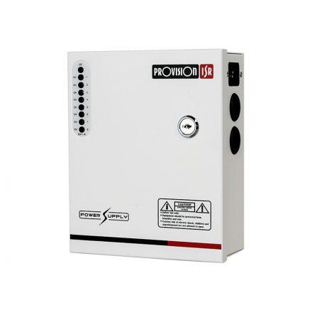 Kameratáp szabályozható 12-14Vdc 5A 8 kimenet PR-5A8CH