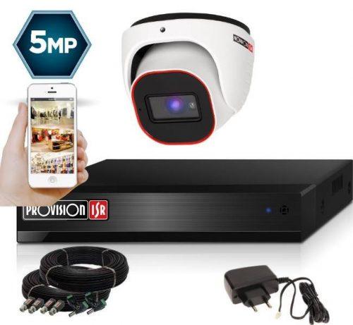 5 Megapixel 1 kamerás dome kamerarendszer AHD-20 Provision