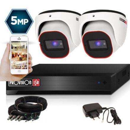 5 Megapixel 2 kamerás dome kamerarendszer AHD-20 Provision