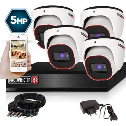 5 Megapixel 4 kamerás dome kamerarendszer AHD-20 Provision