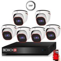4 Megapixel 6 kamerás dome kamerarendszer AHD-20 Provision