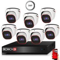 4 Megapixel 7 kamerás dome kamerarendszer AHD-20 Provision