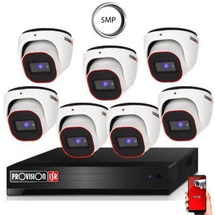 5 Megapixel 7 kamerás dome kamerarendszer AHD-20 Provision