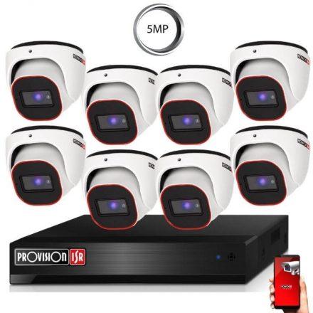 5 Megapixel 8 kamerás dome kamerarendszer AHD-20 Provision