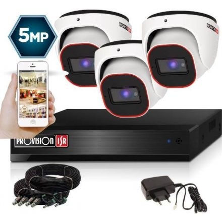 5 Megapixel 3 kamerás dome kamerarendszer AHD-30 Provision