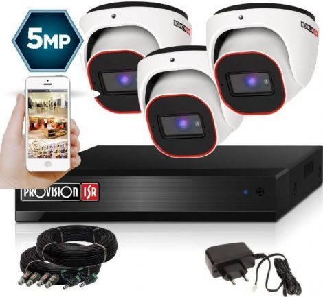4 Megapixel 3 kamerás dome kamerarendszer AHD-30 Provision