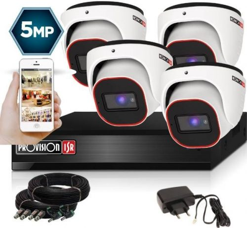 5 Megapixel 4 kamerás dome kamerarendszer AHD-30 Provision