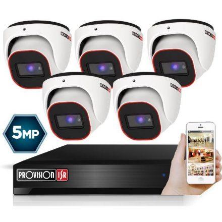 5 Megapixel 5 kamerás dome kamerarendszer AHD-30 Provision