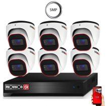 4 Megapixel 6 kamerás dome kamerarendszer AHD-30 Provision