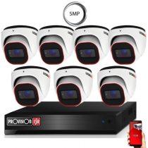 4 Megapixel 7 kamerás dome kamerarendszer AHD-30 Provision