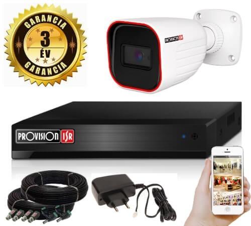 5 Megapixel 1 kamerás bullet kamerarendszer AHD-30 Provision