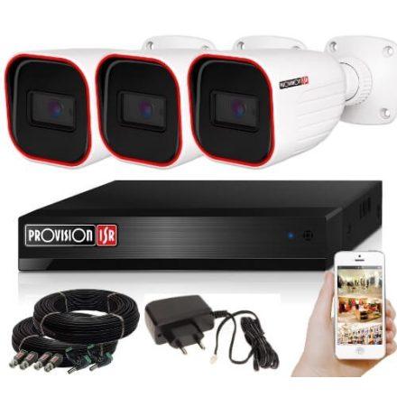 5 Megapixel 3 kamerás bullet kamerarendszer AHD-30 Provision
