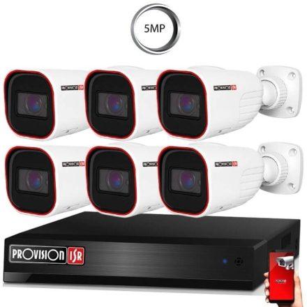 5 Megapixel 6 kamerás bullet kamerarendszer AHD-30 Provision