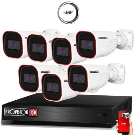 5 Megapixel 7 kamerás bullet kamerarendszer AHD-30 Provision
