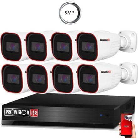 5 Megapixel 8 kamerás bullet kamerarendszer AHD-30 Provision