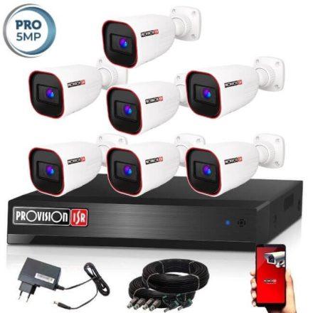 5 MegaPixel Provision AHD-40 7 kamerás megfigyelő kamerarendszer