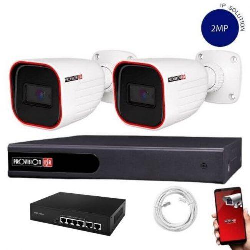 Provision Full HD 2 kamerás IP kamera rendszer 2MP felbontás