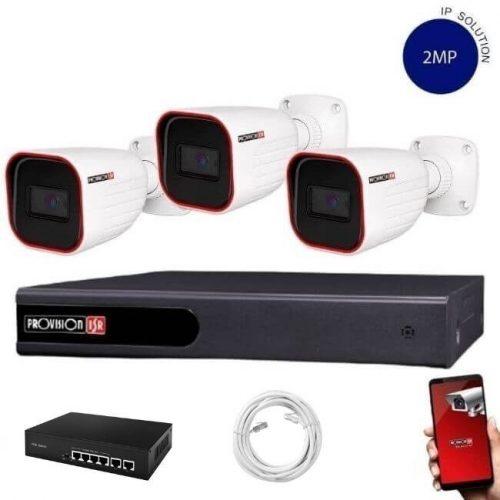 Provision Full HD 3 kamerás IP kamera rendszer 2MP felbontás