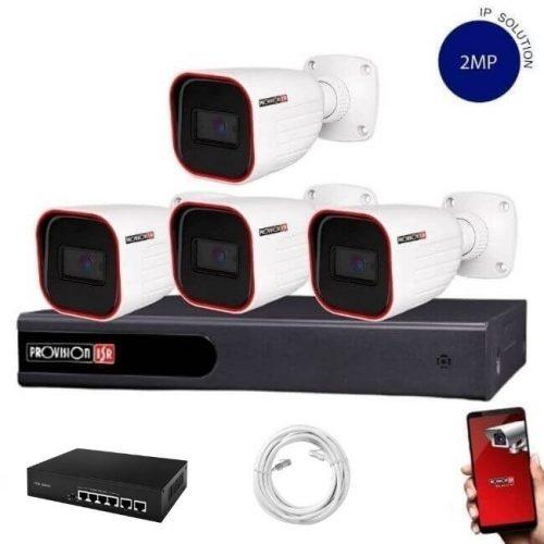 Provision Full HD 4 kamerás IP kamera rendszer 2MP felbontás