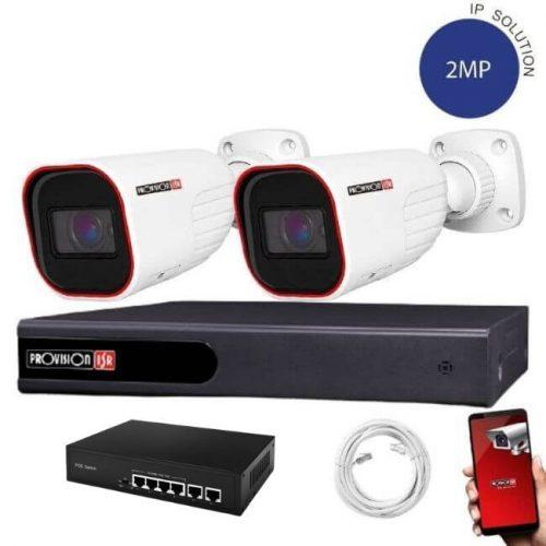 Provision IP kamera rendszer 5xZOOM Full HD 2 MegaPixel 2 kamerás