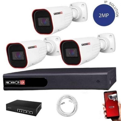 Provision IP kamera rendszer 5xZOOM Full HD 2 MegaPixel 3 kamerás