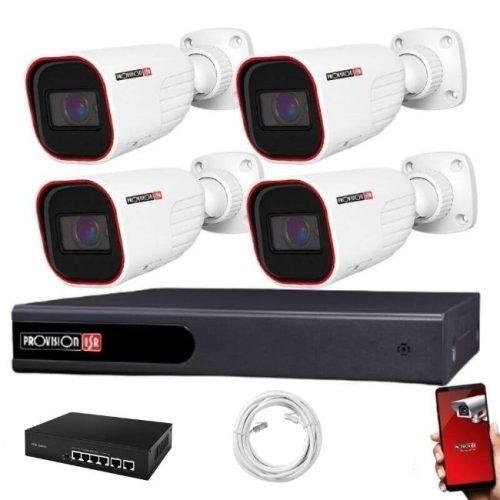 Provision IP kamera rendszer 5xZOOM Full HD 2 MegaPixel 4 kamerás