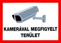 Kamerával megfigyelt terület /tábla/