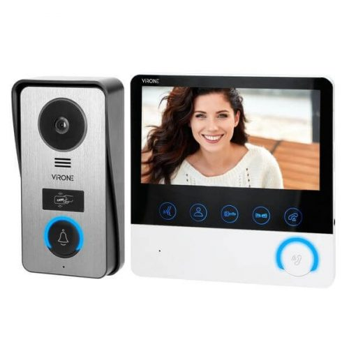 VIRONE VDP-60 videó kaputelefon szett beépített RFID olvasóval