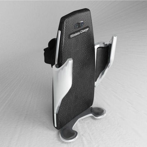 Univerzális autós okostelefon tartó + vezeték nélküli töltő