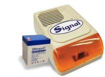 Signal kültéri sziréna 4 Ah akkumulátorral PS-128A + 12V 4Ah
