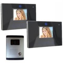 Videokamerás két beltérivel rendelkező kaputelefon 3,5